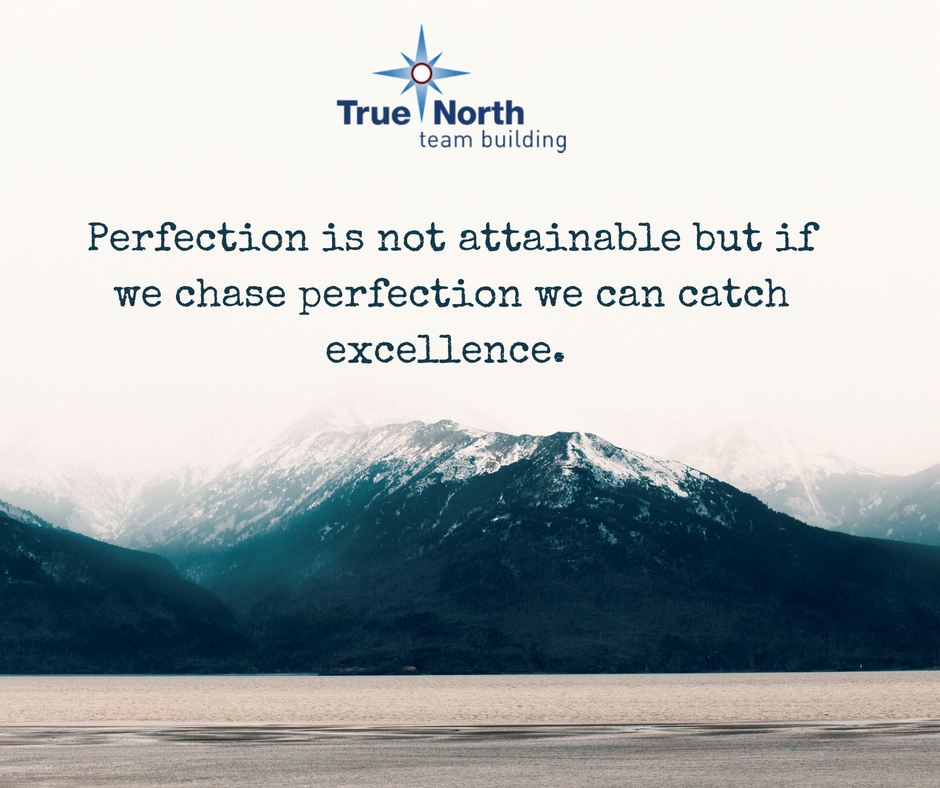 perfection is not attainable but if we chase perfection we can catch excellence